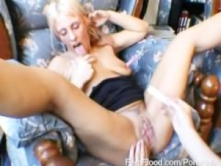 Huge Labia Crystel Loves Nipple Pegs and Hands On Assistance to Squirting O