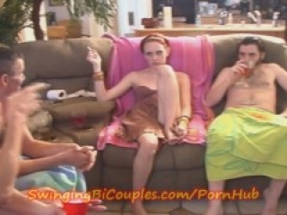 Swinging Bi Couples Fuck Party